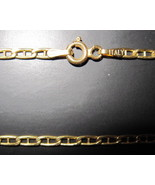14K Solid Italian Yellow Gold Mariner Link Neck... - $155.00