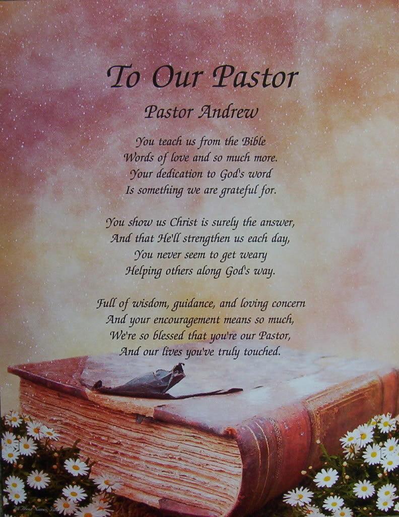 Pastors Wives Appreciation Poems
