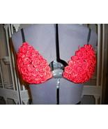 Dance top bra black red roses Fredricks costume... - $5.00
