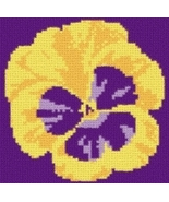 Latch Hook Rug Pattern Chart: PANSY - EMAIL2u - $5.75