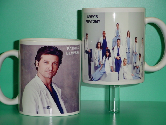 Grey's Anatomy Patrick Dempsey 2 Photo Collectible Mug 02