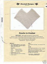 Crochet Poncho Patterns - Cross Stitch, Needlepoint, Rubber Stamps