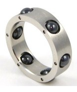 SSR1817 Black Spinning Ball Stainless Steel Ring  - $9.99