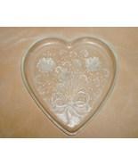 Mikasa Crystal Glass Heart Shaped Dish Platter Plate - $10.00