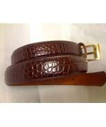 Ralph Lauren Brown Croc Embossed Belt Sz M - $35.99