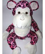 Kellytoy Pink Monkey Black Skulls Goth Emo Prin... - $24.88