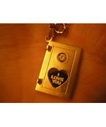 I Love You Pendant Articulated Book Gold Jewelr... - $20.00