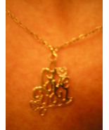 Gold I Love You Necklace Chain Hearts Jewelry - $20.00
