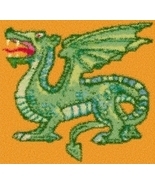 Latch Hook Rug Pattern Chart: DRAGON - EMAIL2u - $5.75