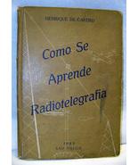 1943 Brazillian Radio Telegraph Book by Castro - $14.00