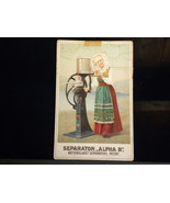 Antique Ad Card Cream Separator Alpha B Worjjds... - $10.00