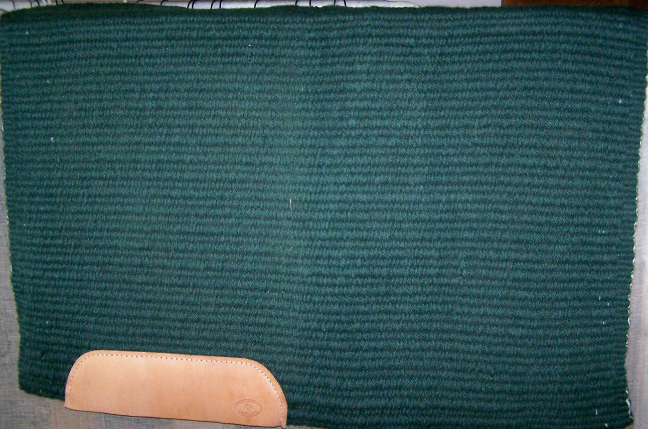 THREE FEATHERS 6LB FOREST GREEN FIRST QUALITY SHOW SADDLE BLANKET PAD 33 x 40
