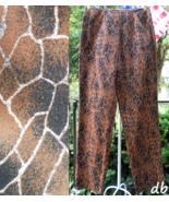 W brand SteinMart PANTS new giraffe WILD ANIMAL... - $30.06
