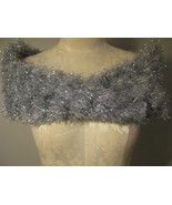 Magic Scarf Dressy Silver Soft And Comfy - $8.00