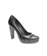 New Authentic Cole Haan Women's Black Leather Platform Heels Shoes sz 9.5 39.5