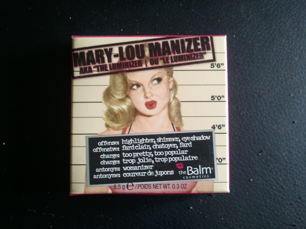 The Balm Mary-Lou Manizer Highlighter, Shimmer, Eyeshadow, 8.5g