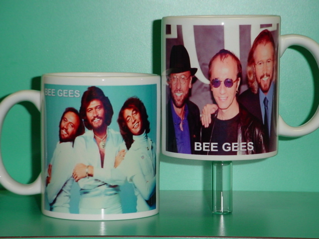Bee Gees Barry Robin Maurice Gibb 2 Photo Designer Collectible Mug