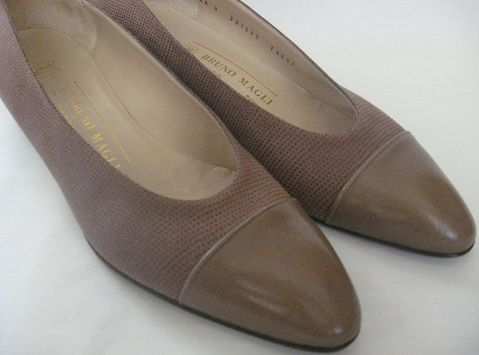 Bruno_magli_womens_pumps_low_heel_flats_shoes_brown