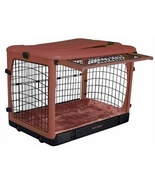 Deluxe Steel Dog Crate with Bolster Pad  - Smal... - $155.94
