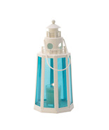 Blue And White Lighthouse Candle Lantern - $25.00