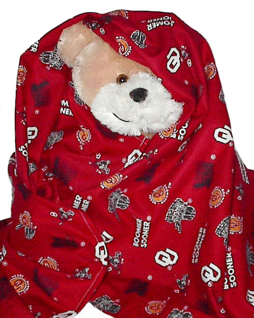 OU Boomer Sooners Flannel Toddler Baby Blanket, boy girl security receiving, B