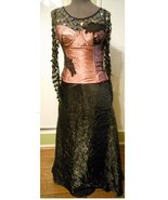 Formal prom skirt sequin top corset mauve dress... - $135.00