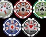 Buy Individual Sports - CIRCLE 10JQKA 500 CHIP SET 11.5G CASINO WEIGHT!!!!!!!!!