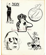 Charles DeGaulle French Caricatures CBS TV Ad A... - $9.99
