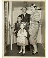George Gobel Family Press Photo 1960s Retro Fas... - $14.99