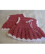 New Set of 2 Handcrafted Cotton Crochet Dresses... - $11.99