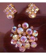 Brilliant vintage Aurora Borealis Pin Brooch & ... - $13.95