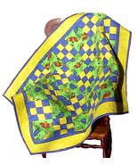 Lizard flannel Baby Quilt, handmade OOAK boy gi... - $150.00