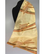 Dragonfly Hand Painted Silk Scarf Handcrafted O... - $65.00
