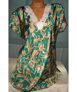 Emerald Paisley Sleep Shirt Romantic Moods L