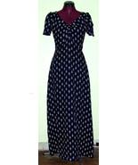 Sweet 70's Vintage Maxi Rayon Dress Puff Sleeve... - $20.00