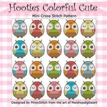 Hooties Colorful Cute Owls cross stitch chart P... - $11.70