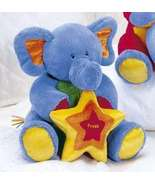 "Baby Gund Tutti Frutti 8"" Blue Elephant, Display Item-NO MUS"