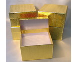 Buy gift boxes wholesale - 5 Gold Leaf Metallic Premium Gift Boxes Wholesale Lot