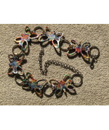 Butterfly Belt Rhinestones Colorful Butterflies - $14.00