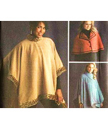 Simplicity 4358 New Pattern Fleece Poncho and C... - $8.95