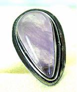 Unusual Lilac Tear Drop Rutilated Quartz Sterli... - $116.90