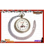 ANTIQUE CHROME FINISH BRASS POCKET WATCH BRAND ... - $31.99