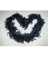 Black Boa Feathers Wrap Neck Warmer - $3.97
