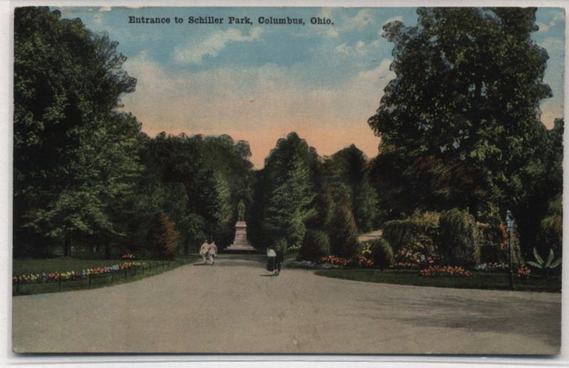 ENTRANCE TO SCHILLER PARK~COLUMBUS,OHIO~1910-15?