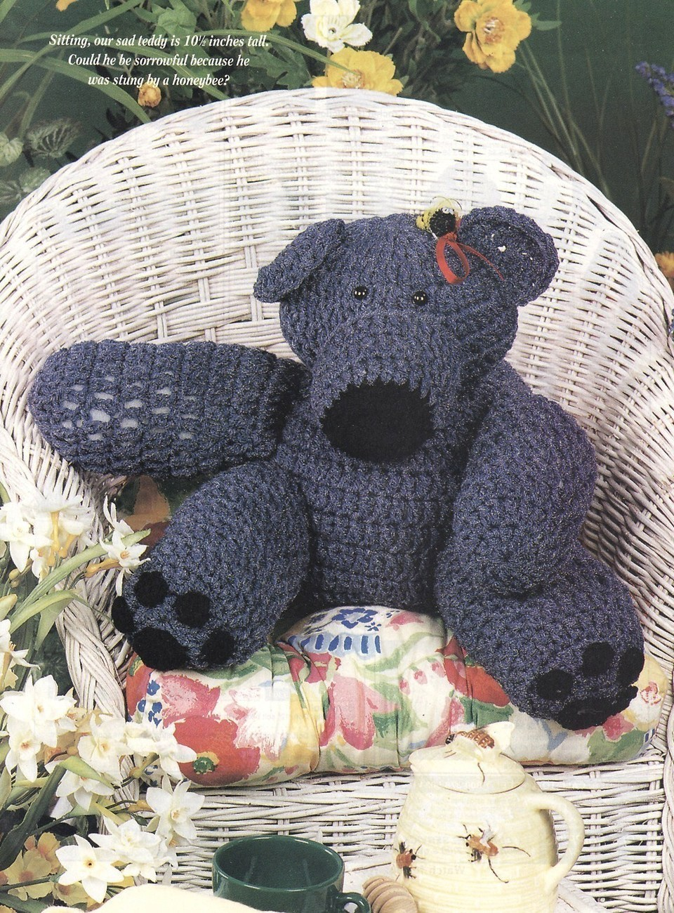 Free Crochet Pattern: Teddy Bear Overalls, Shirt and Cap