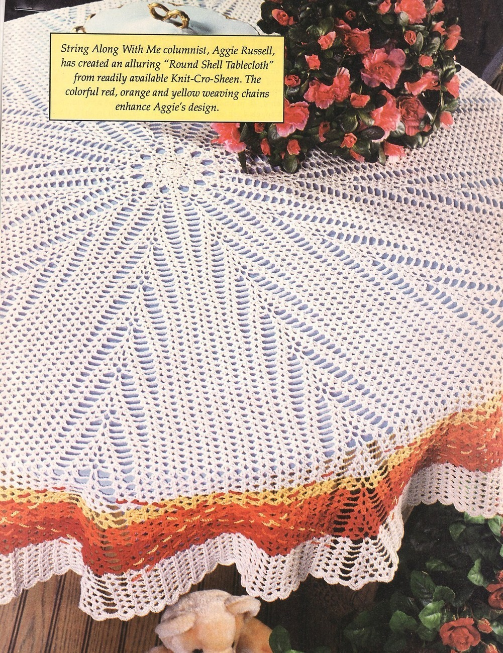 I'm looking for a free round crochet tablecloth or doily pattern