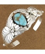 Lone Mountain Turquoise Sterling Silver Old Paw... - $371.27