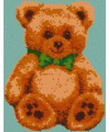 Latch Hook Rug Pattern Chart: Teddy Bear - EMAIL2u - $5.75