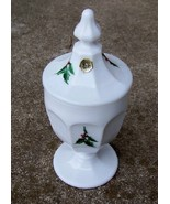 Westmoreland Holly & Berry Milk Glass Candy Jar... - $39.99