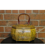 Vintage Anton Pieck Wood Decoupage  Purse Octag... - $37.50